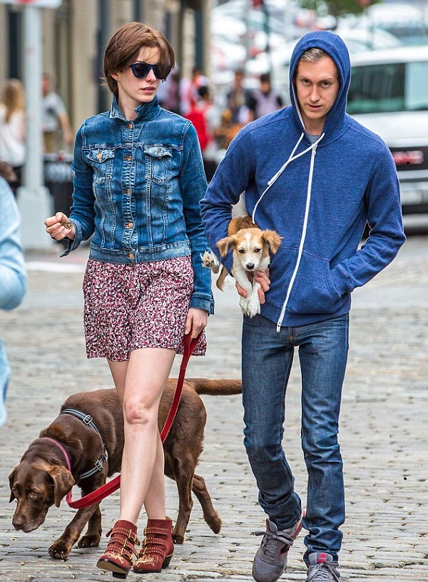 Anne Hathaway and Adam Shulman Adopted A Puppy