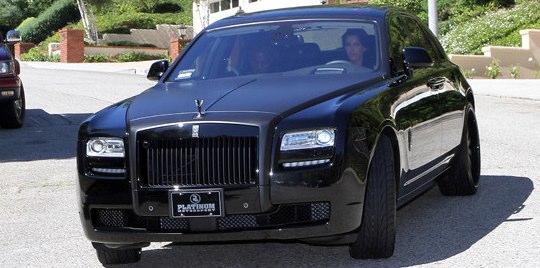Kim Kardashian's Rolls Royce met with an accident