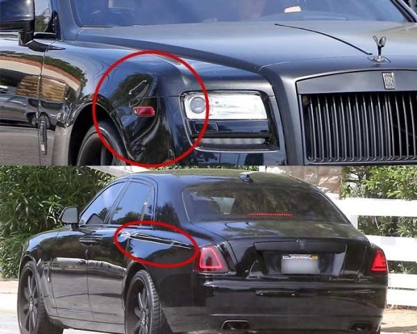 Kim Kardashian S Rolls Royce Met With An Accident Celebcafe Org