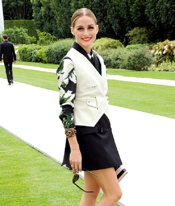Olivia Palermo and Husband Johannes Huebl in Paris Couture Fashion Week 2