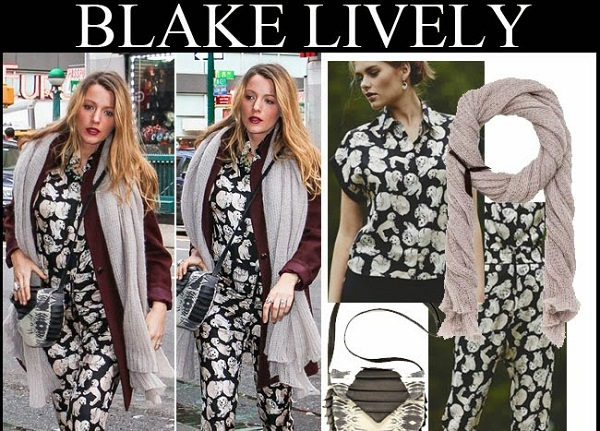 Blake Lively Looks Chic in Maternity Style Puppy-Print Playsuit