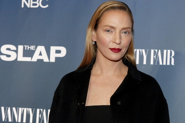 Uma Thurman Looks Gorgeous Even In Minimal Makeup While Attending Red Carpet