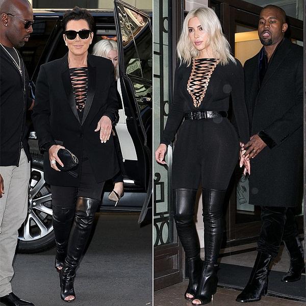 Kris Jenner copies daughter Kim Kardashian's hot Givenchy Look 1