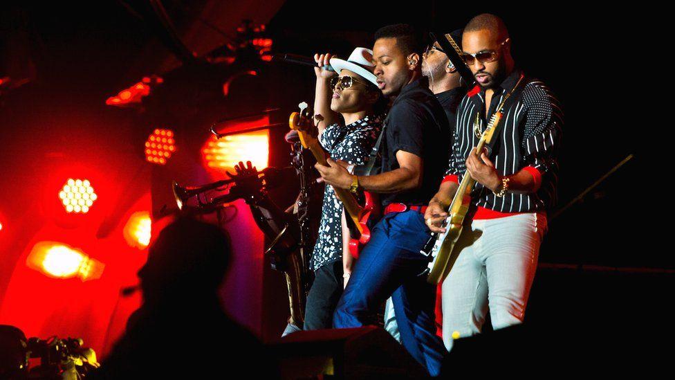 Bruno Mars and his band