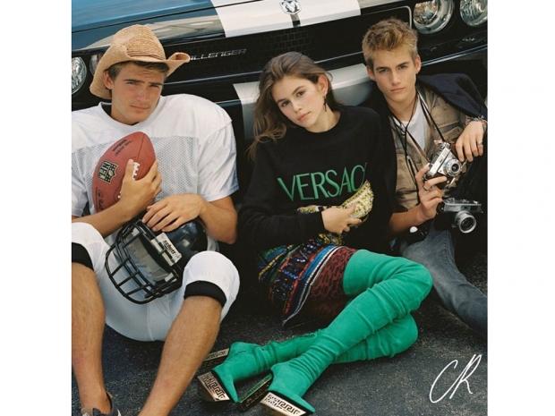 Cindy Crawford's children appear in CR Fashion Book