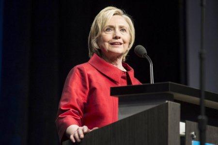 U.S. Democratic presidential candidate Hillary Clinton in Fairfax Virginia