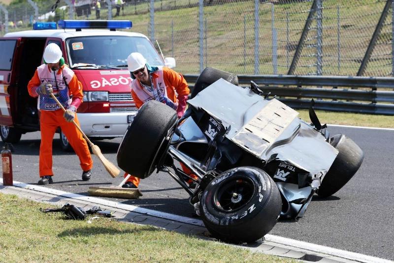 Perez escapes injury after Hungaroring flip