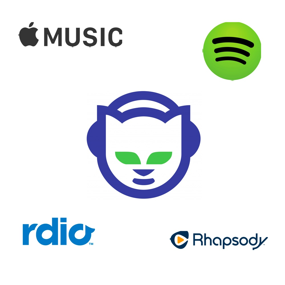 Apple Music Spotify Rdio Rhapsody and Napster