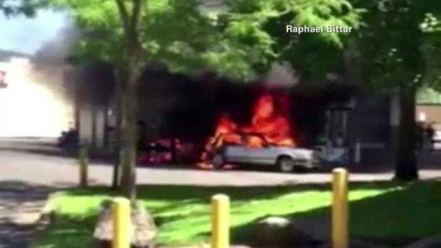 Car Fire Rescue CNN