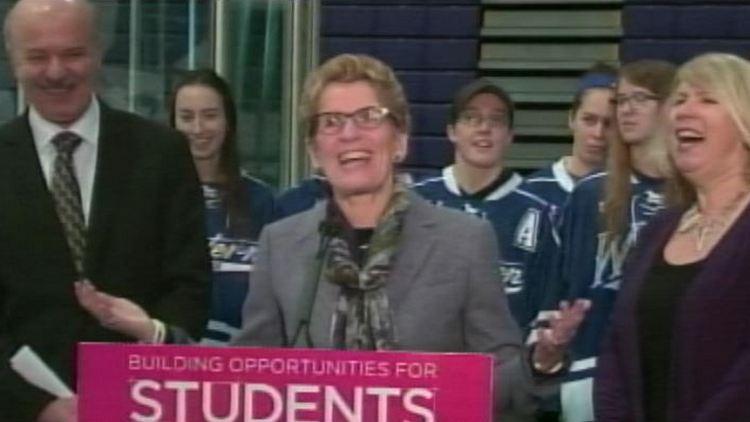Ontario premier Kathleen Wynne at Western University London