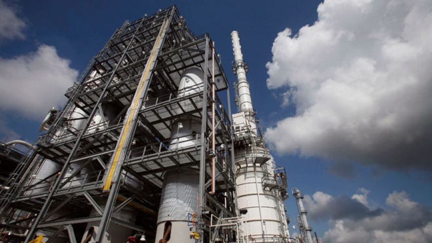 The Valero St. Charles oil refinery in Norco Louisiana