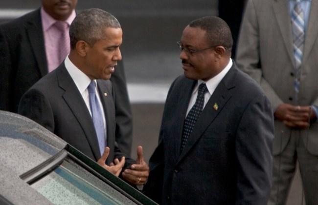 US President Barack Obama lands in Ethiopia