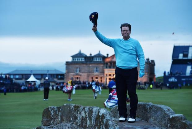 The Open 2015 Dustin Johnson leads at halfway stage at St Andrews as five-time champion Tom Watson bids farewell
