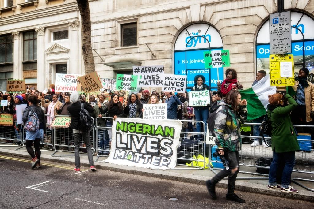 Anti-Boko Haram protest in London January 2015