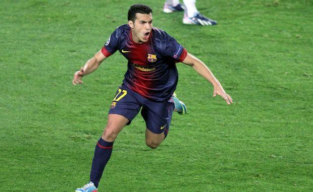 Barcelona player Pedro
