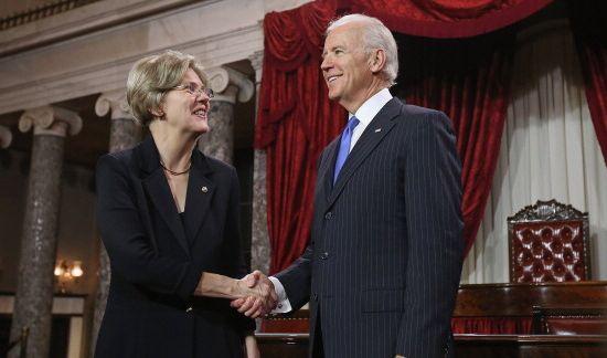 U.S. Sen. Elizabeth Warren  participates