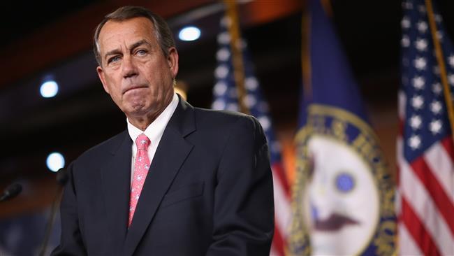 Speaker of the House John Boehner at the US Capitol in Washington DC