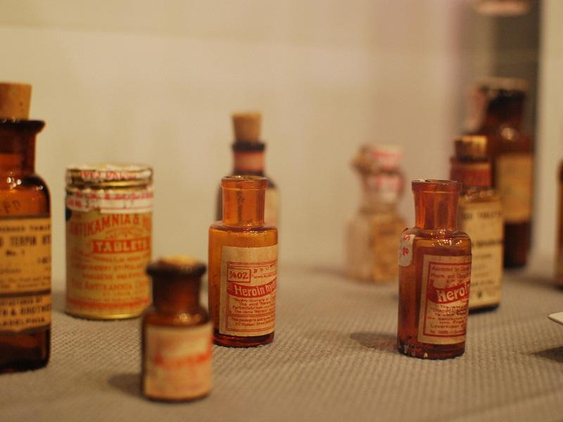 Heroin bottles