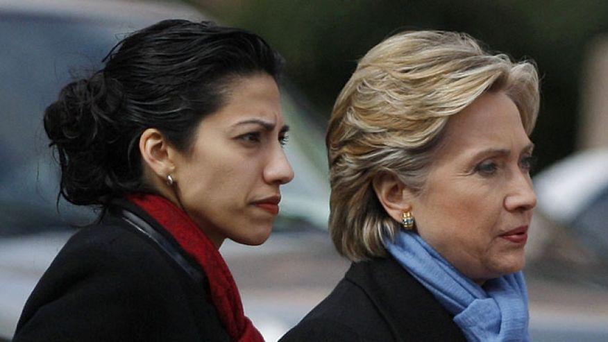 FILE Feb. 22 2008 Then-Sen. Hillary Clinton D-N.Y. with chief of staff Huma Abedin in Fort Worth Texas