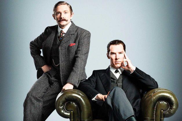 Martin Freeman and Benedict Cumberbatch Sherlock Special