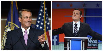 John Boehner and Ted Cruz