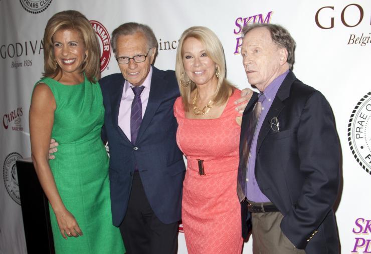 TV Hosts Hoda Kotb Larry King Kathie Lee Gifford and Dick Cavett