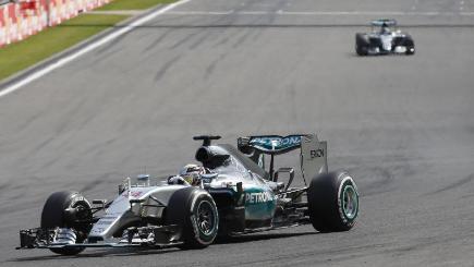 Mercedes driver Lewis Hamilton won the Belgian Grand Prix ahead of team-mate Nico Rosberg