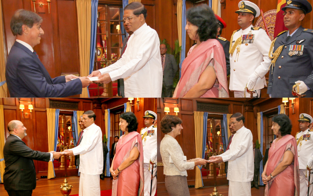 Sri Lanka's prime minister sworn in as 2 parties sign deal