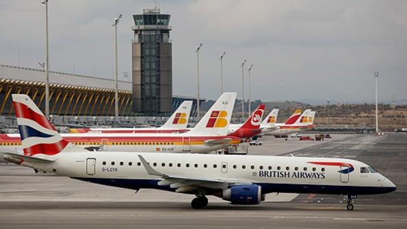 A British Airways plane on the runway