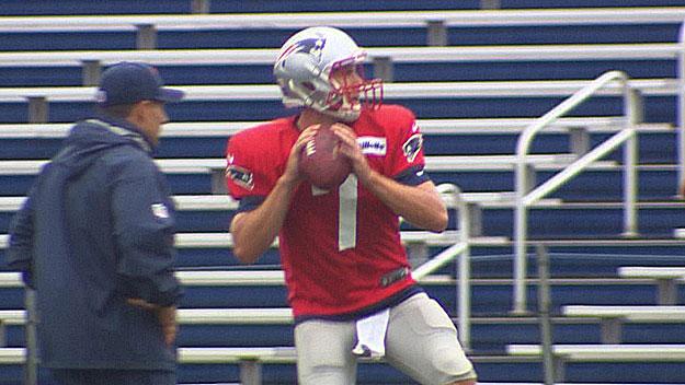 Patriots backup quarterback Ryan Lindley