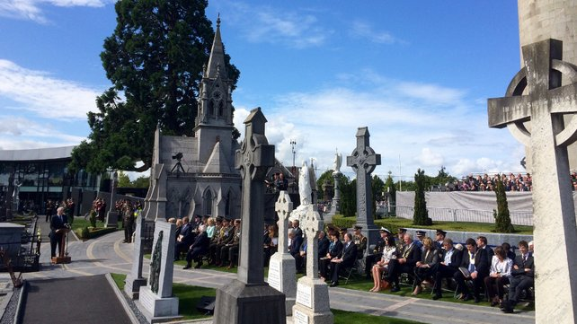 President Higgins was among those at the centenary event