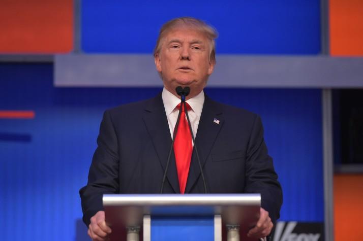 Real estate tycoon Donald Trump MANDEL NGAN