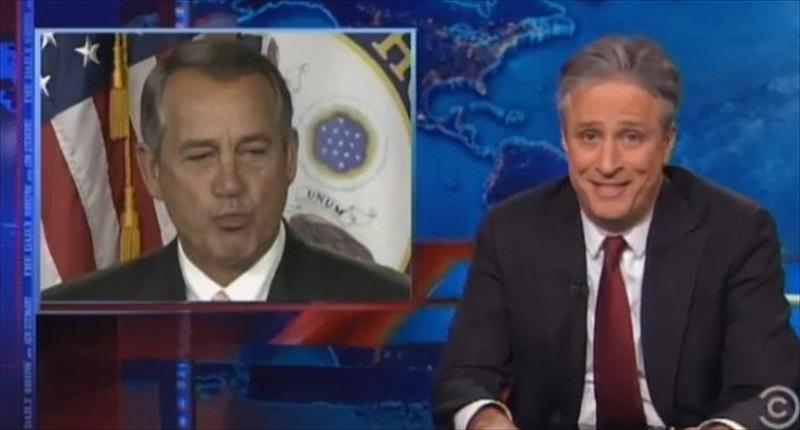 Jon Stewart mocks House Speaker John Boehner on 'The Daily Show&#039