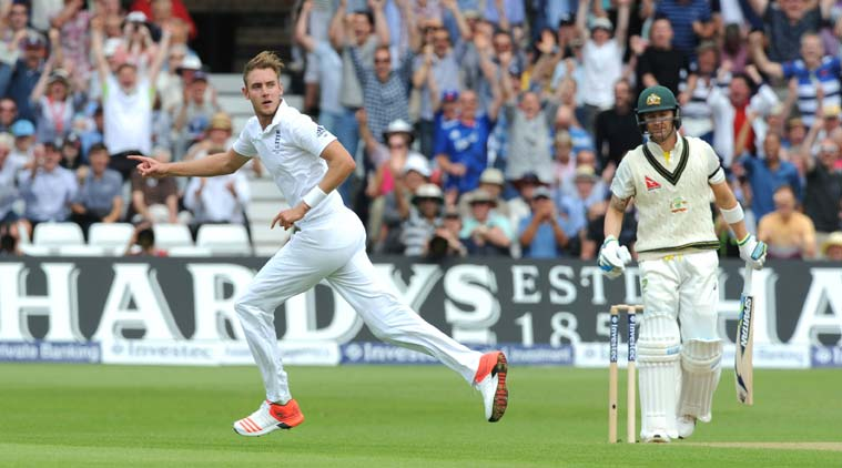 Stuart Broad's fiery spell has put England in the driving seat