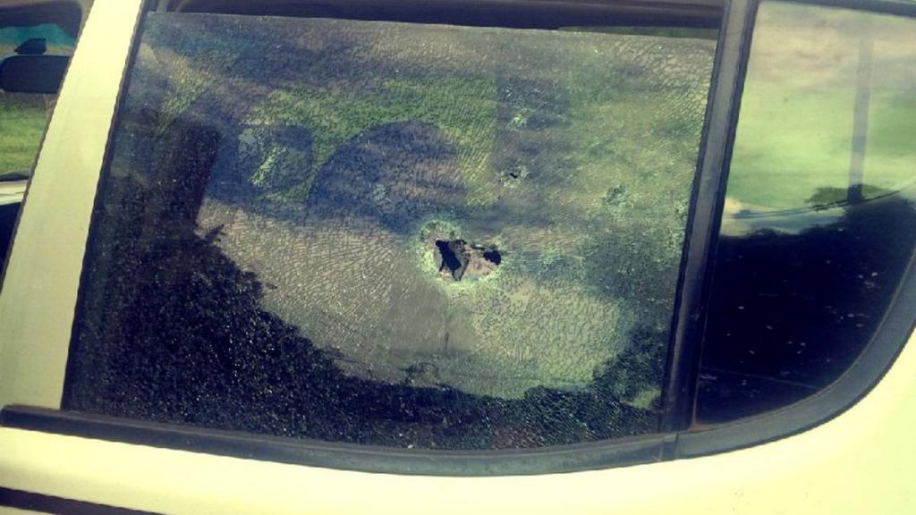A Hilux van belonging to Olu Falae vandalised by his kidnappers before he was kidnapped