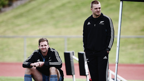All Blacks captain-in-waiting Kieran Read alongside the next All Blacks captain-in-waiting Sam Cane