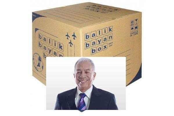 Bureau of Customs chief Alberto'Bert Lina and balikbayan box