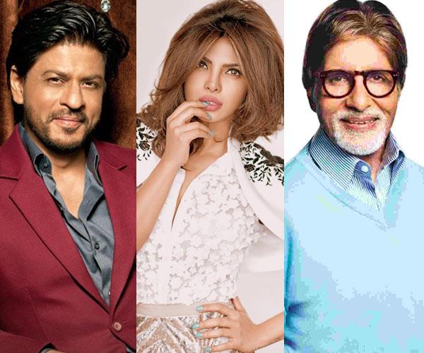 Shah Rukh Khan Priyanka Chopra Amitabh Bachchan wish fans EidMubarak