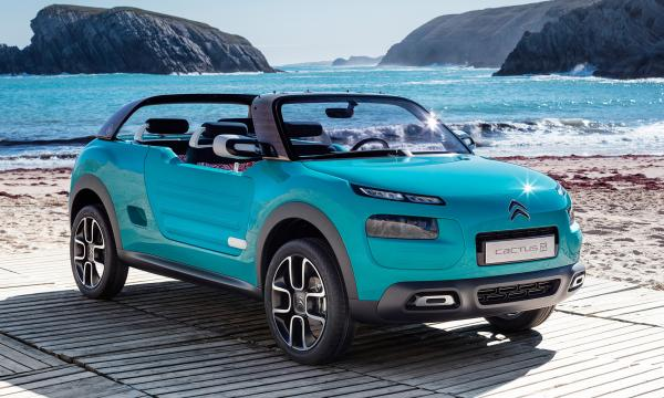 Citroen Cactus M concept is an open-air crossover vehicle intended to evoke images of sand sun and surf