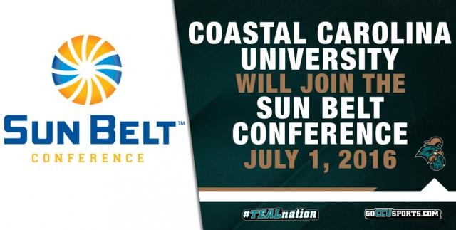 Coastal Carolina Athletics Coastal Carolina to join Sun Belt Conference in July 2016