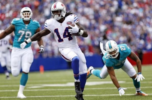 Bills' Wide Receiver Sammy Watkins Exits With Calf Injury