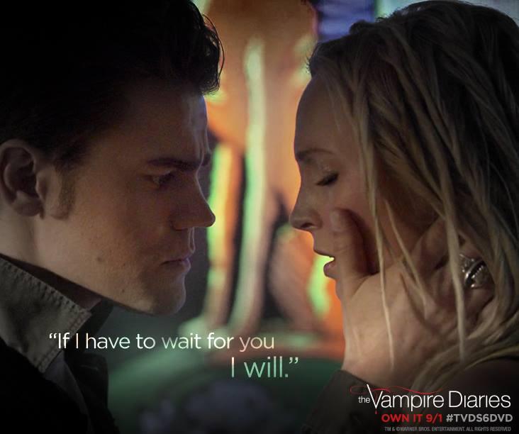 Facebook The Vampire Diaries Candice Accola as Caroline and Paul Wesley as Stefan in'The Vampire Diaries
