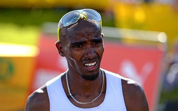 Mo Farah at the Great North Run
