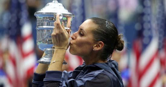 Pennetta wins US Open title, announces retirement