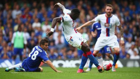 Image Text  GET IN Bakary Sako scores against Chelsea
