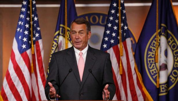 US Speaker of the House John Boehner publicly announces his resignation