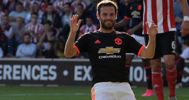 Juan Mata is enjoying his football under Louis van Gaal