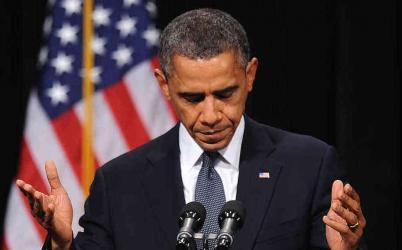 President Barack Obama Praying