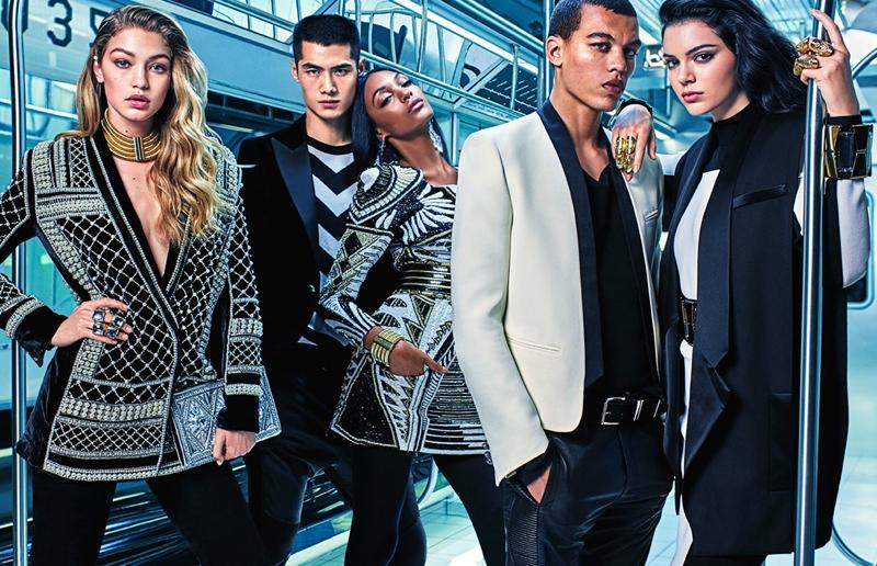 Balmain x H&M ads