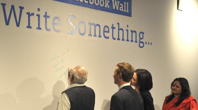 Narendra Modi Modi Zuckerberg Modi Facebook wall Modi Facebook Townhall Modi in Silicon Valley PM Modi in Silicon Valley PM Modi on Facebook Wall Narendra Modi message Mark Zuckerberg technology technology news